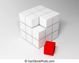Cubes Abstract background 3d