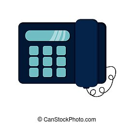 landline telephone icon - flat design landline telephone...