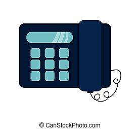 landline telephone icon - flat design landline telephone...