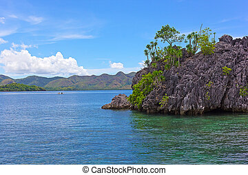 Sea waters of Coron Island lagoon