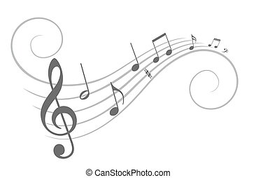 Music notes. - The stylized music notes.