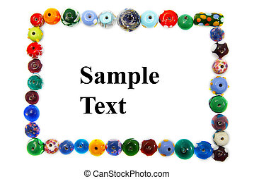 colorful bead frame isolated on white