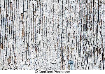 Painted Old Wooden Texture - White painted old grunge wooden...