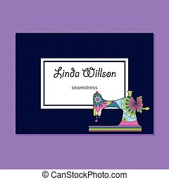 Business card for seamstress - Vector business card for...