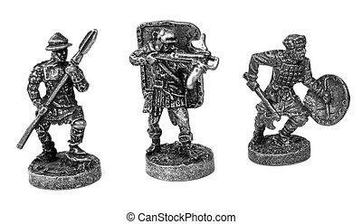 Metal warriors - Metal toy figures of warriors
