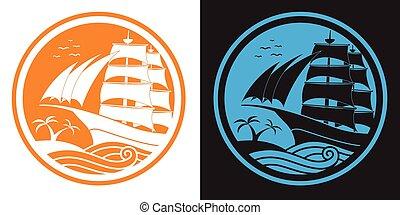 logo ship sail.eps