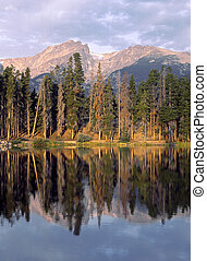 Sprague Lake Reflection - Early morning at Rocky Mountain...