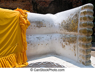 The foot of buddha