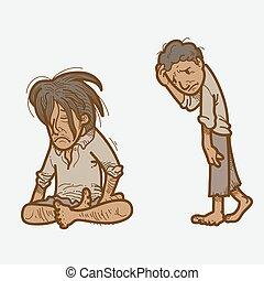Poor people.eps - Illustration of poor people