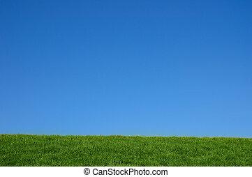 zöld, füves, hegy, fényes, kék,...