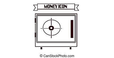 Money icon with a safe design over