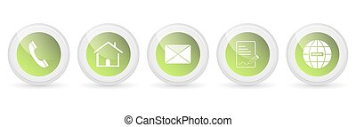 Contact us vector buttons - set.