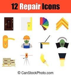 Repair icon set