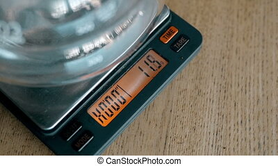 Coffee Pot On Electronic Scales, HD