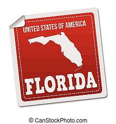 Florida sticker or label