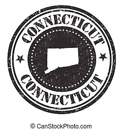 Connecticut sign or stamp