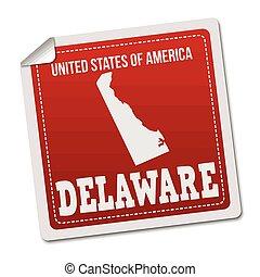 Delaware sticker or label