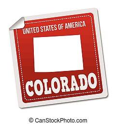 Colorado sticker or label