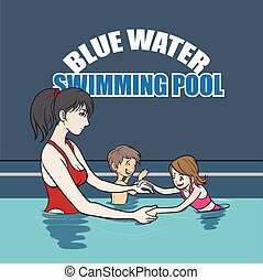 Swimming instructor - Illustration of swimming instructor