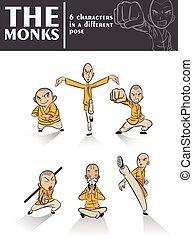 The monks - Illustration of monks training