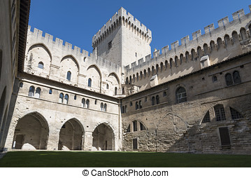 Avignon popes palace - the pope palace of Avignon