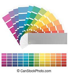 color fan with twelve colors