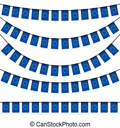 garlands with european national colors - different garlands...
