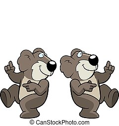 Koala Dancing - A happy cartoon koala dancing and smiling