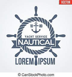 Nautical Yacht logotype - Premium Nautical Yacht logo....