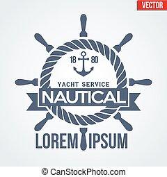 Nautical Yacht logotype - Premium Nautical Yacht logo....