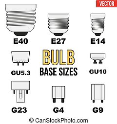 Technical draw of bulb - Technical infographic of typical...