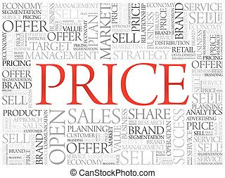 PRICE word cloud, business concept background