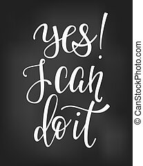 Yes I can do it quote typography