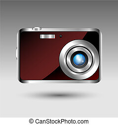 Compact digital foto camera - front view