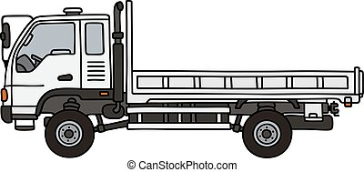 Small terrain truck - Hand drawing of a small terrain truck