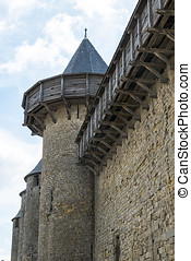 Carcassonne, medieval city in france