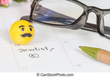 "Reminder ""Dentist appointment"" in calendar"
