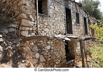 Old ruins of a house