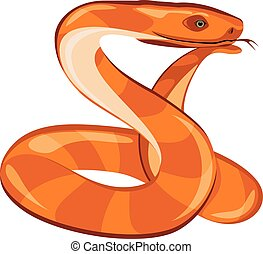 Dreaming snake. Vector illustration