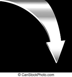 White arrow and neutral black background Business concept