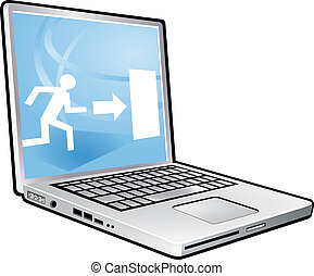 laptop escape way