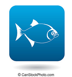 Vampire fish icon, simple style - Vampire fish icon in...