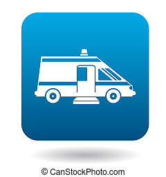 Ambulance car for the disabled icon, simple style -...