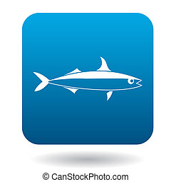 Smelt fish icon, simple style - Smelt fish icon in simple...