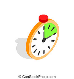 Alarm clock icon, isometric 3d style - Alarm clock icon in...