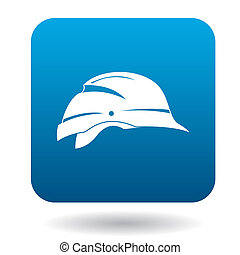 Hardhat icon in simple style on a white background
