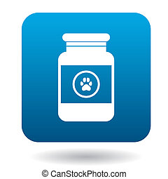 Veterinary medicament bottle icon, simple style - Veterinary...