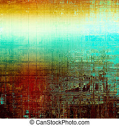 Grunge background for a creative vintage style poster. With different color patterns: green; blue; red (orange); yellow (beige); brown; cyan