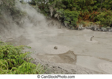 Mud Pools, Wai-O-Tapu, New Zealand - Mud Pools, Wai-O-Tapu,...