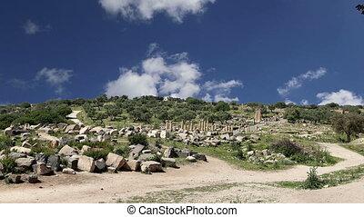 Roman ruins at Umm Qais, Jordan - Roman ruins at Umm Qais...